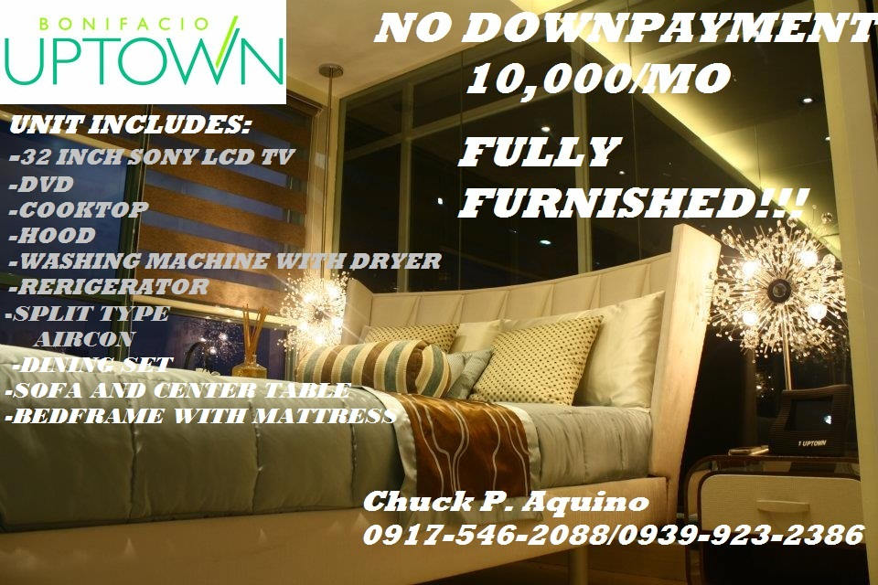 Uptown Bonifacio,One Uptown Residence,10,000/mo, 10,000/month, 10,000 per month, 10k/mo, 10k/month,10k per month,One Uptown Residence Fully-furnished,Fully furnished Unit at Fort Bonifacio,Fort Bonifacio Fully-furnished Unit,10,000/month fully-furnished!,Fort Bonifacio Condominiums,Pre-selling Fully-furnished condominiums,pre-selling condominiums fort bonfacio,condominiums near St. Luke's Hospital,near grand hyatt hotel,near S&amp;R,near Globe Tower,near bonifacio high-street,near market-market,near british international school,near manila japanese school,near international school manila,near mind museum